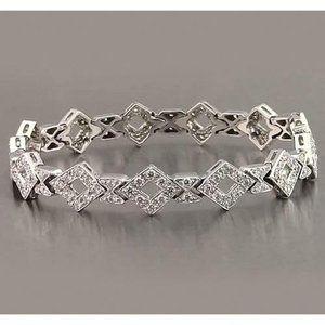 Jewelry - Gents White Gold Diamond Bracelet 3.50 Carats Jewe